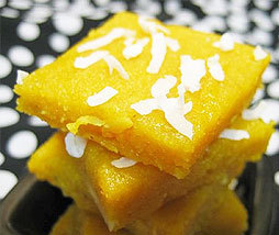 Peach Milk Burfi